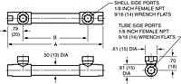 Dimensional Drawing for 10 Series Shell & Tube Heat Exchangers (00268)