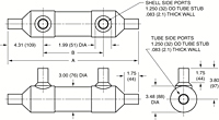 Dimensional Drawing for 73 Series Shell & Tube Heat Exchangers (00604)