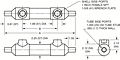 Dimensional Drawing for 54 Series Shell & Tube Heat Exchangers (00577)
