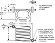 Dimensional Drawing for Tube-in-Tube Sanitary Flanges (00644-1 & 00644-02)