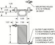 Dimensional Drawing for Tube-in-Tube Heat Exchangers (00413)